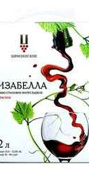 Вино столовое красное полусладкое «Изабелла» Bag-in-Box