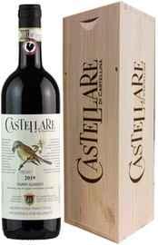 Вино красное сухое «Castellare di Castellina Chianti Classico» 2019 г., в подарочной деревянной упаковке