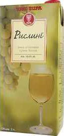 Вино столовое белое сухое «Vino Zupa Riesling (Tetra Pak), 2 л»