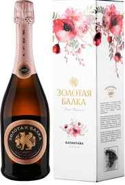 Вино игристое розовое брют «Золотая Балка Брют» в подарочной упаковке