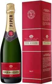 Шампанское белое брют «Piper-Heidsieck Brut» в подарочной упаковке