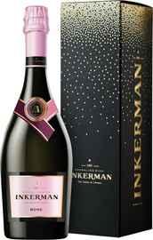 Вино игристое розовое полусладкое «Инкерман Розе» в подарочной упаковке