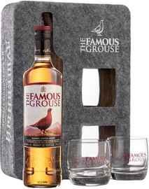 Виски шотландский «Famous Grouse» в подарочной упаковке с двумя стаканами
