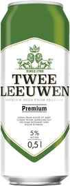 Пиво «Twee Leeuwen Premium» в жестяной банке