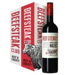 Вино красное сухое «Beefsteak Club Beef and Liberty Malbec» в подарочной упаковке