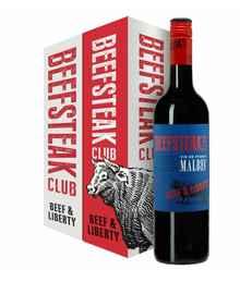 Вино столовое красное полусухое «Beefsteak Club Beef & Liberty Malbec Vin De France» в подарочной упаковке