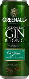 Напиток слабоалкогольный газированный «Greenall's Gin&Tonic Original, 0.45 л» в жестяной банке