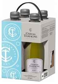 Вино игристое белое брют «Шато Тамань» в подарочной упаковке из 4-х бутылок