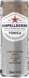Напиток безалкогольный газированный тоник «S. Pellegrino Tonica Oakwood Extract» в жестяной банке