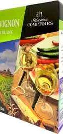 Вино столовое белое сухое «Selection Comptoirs Sauvignon» 2020 г.