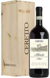 Вино красное сухое «Ceretto Barolo Prapo» 2016 г., в деревянной подарочной упаковке