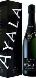 Шампанское белое брют «Ayala Brut Nature» в подарочной коробке