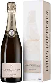 Вино игристое белое брют «Louis Roederer Collection 242» 2017 г., в подарочной упаковке графика