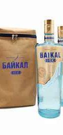 Набор из 2 бутылок водки «Байкал Айс» по 0,5 л и сумка-холодильник в подарок
