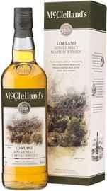 Виски шотландский «McClelland's Lowland» в подарочной упаковке