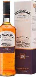 Виски шотландский «Bowmore 18 years, 0.7 л» в подарочной упаковке