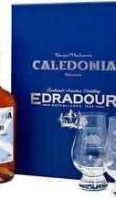 Виски шотландский  «Edradour Caledonia 12 years old» подарочный набор с двумя бокалами