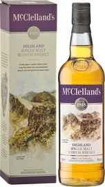 Виски шотландский «McClelland's Highland» в подарочной упаковке
