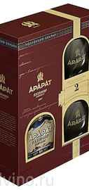 Коньяк армянский «Ararat Akhtamar» в подарочной упаковке с двумя бокалами
