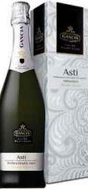 Игристое вино белое сладкое «Gancia Asti Millesimato» в подарочной упаковке