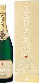 Шампанское белое полусухое «Lanson Ivory Label Demi-Sec» в подарочной упаковке