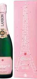 Шампанское розовое сухое «Lanson Rose Label Brut Rose» в подарочной упаковке