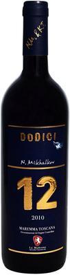 Вино красное сухое «Dodici Monteregio di Massa Marittima» 2013 г.