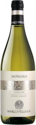 Вино белое сухое «Pinot Grigio Mongris, 0.375 л» 2016 г.