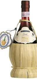 Вино красное сухое «Conti Serristori Chianti» 2011 г., в соломенной оплетке