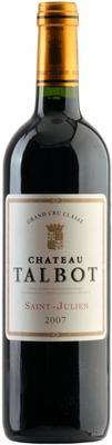Вино красное сухое «Chateau Talbot Saint-Julien 4-me Grand Cru» 2007 г.