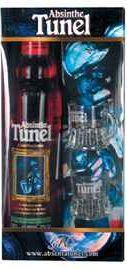 Абсент «Tunel Красный» в подарочной упаковке