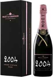 Вино игристое розовое брют «Moet & Chandon Brut Vintage Rose» 2004 г. в подарочной упаковке