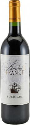 Вино красное сухое «Barriere Freres Amiral de France Rouge» 2008 г.