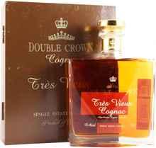 Коньяк «Double Crown Tres Vieux» декантер в подарочной коробке