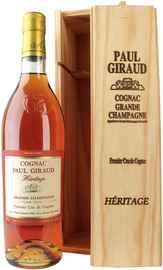 Коньяк «Paul Giraud Heritage Grande Champagne Premier Cru» в деревянной коробке