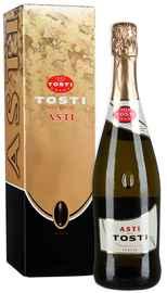 Вино игристое белое сладкое «Tosti Asti» в подарочной упаковке