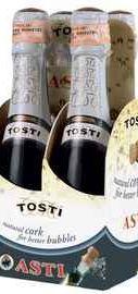 Вино игристое белое сладкое «Tosti Asti» набор из 2-х бутылок в подарочной упаковке