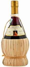 Вино красное сухое «Cantina dei Vini Tipici dell' Aretino Chianti Fiasco Caretti»