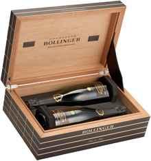 Набор шампанского белого брют «Vieilles Vignes Francaises Brut 2000 & 2004» 2000 г., 2004 г., в сигарном ящике