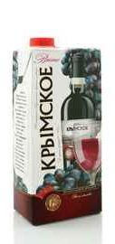 Вино столовое красное полусладкое  «Крымское (Тетра Пак)»