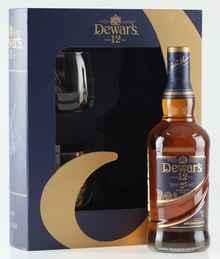 Виски шотландский «Dewar's Special Reserve» + 2 стакана, в подарочной упаковке