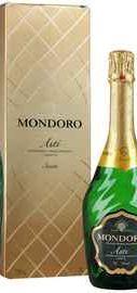 Вино игристое белое сладкое «Mondoro Asti» в подарочной упаковке, со стоппером