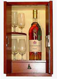 Коньяк «Courvoisier Succession JS» + 4 стакана, в подарочной упаковке