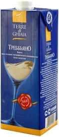 Вино белое полусухое  «Trebbiano Terre di Ghiaia (Tetra Pak)»