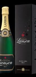 Шампанское белое брют «Lanson Black Label» в подарочной упаковке