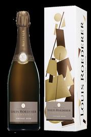 Шампанское белое брют «Louis Roederer Brut Vintage» 2008 г. в графической упаковке