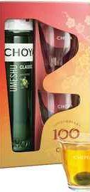 Напиток винный «Choya Classic Umeshu» с плодами, в подарочной упаковке с 2 стаканами