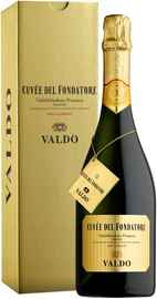 Вино игристое белое брют «Valdo Cuvee del Fondatore Valdobbiadene Prosecco Superiore» в подарочной упаковке 2013 г.