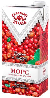 Морс Северная ягода «Земляника - брусника»