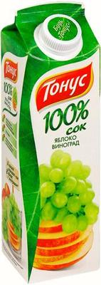 Сок «Тонус Актив+ яблоко-виноград»